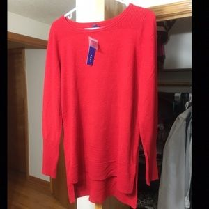 NWT Apt. 9 Red Sweater with Hints of Sparkles
